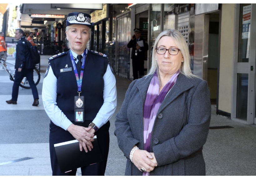 Judy with or Police Commissioner Katarina Carroll